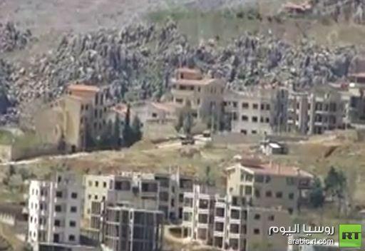 فيديو يظهر تمركز المدرعات في شوارع بلدة الزبداني