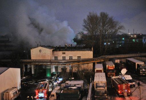 مصرع 17 شخصا في حريق بسوق لمواد البناء في موسكو