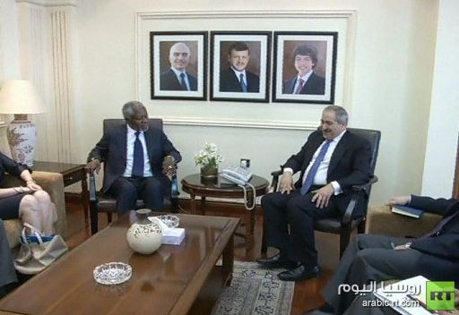 عنان وجودة يبحثان الأزمة السورية في عمان
