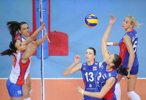 روسيا تفوز على صربيا في تصفيات لندن 2012 بالكرة الطائرة