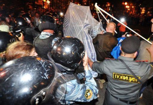 الشرطة الروسية تمنع نشطاء معارضين من إقامة مخيم اعتصام جديد بموسكو