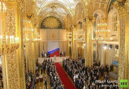 جولة مصورة لمراسم تنصيب الرئيس الروسي الجديد فلاديمير بوتين