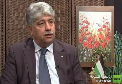 تهنئة الدكتور احمد مجدلاني وزير العمل الفلسطيني لقناة روسيا اليوم