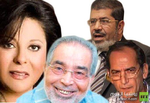 فنانون يدعون لمنح مرسي فرصة وآخرون يؤكدون انهم ضده