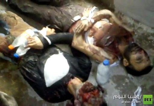 فيديو ضحايا الهجوم على قدسيا في ريف دمشق