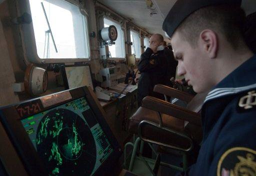 سفينة حربية روسية ترافق قافلة جديدة من السفن التجارية في خليج عدن