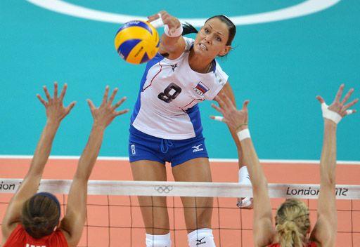 روسيا تفوز على بريطانيا بالطائرة بأولمبياد لندن