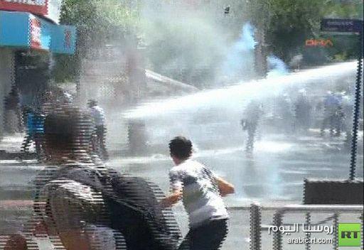 مواجهات بين الشرطة ومتظاهرين أكراد في ديار بكر بتركيا