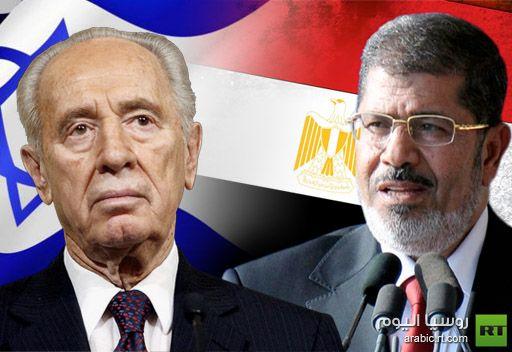 الرئاسة المصرية تنفي ان يكون مرسي قد بعث برسالة الى بيريز