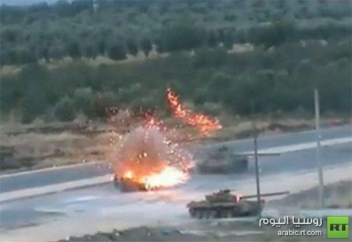 فيديو: تفجير دبابتين ومروحية في سورية