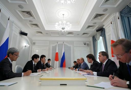بوتين يأمل بإتمام المشروعات المشتركة مع اليابان
