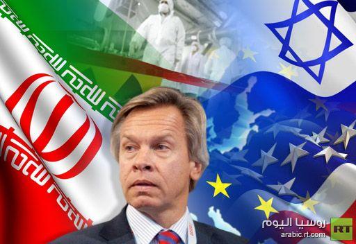رئيس لجنة العلاقات الخارجية بمجلس الدوما: العقوبات الغربية ضد ايران تهدف الى تغيير النظام