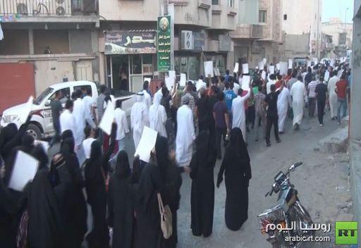 مشاهد من مظاهرة في السعودية على خلفية إعتقال رجل دين شيعي