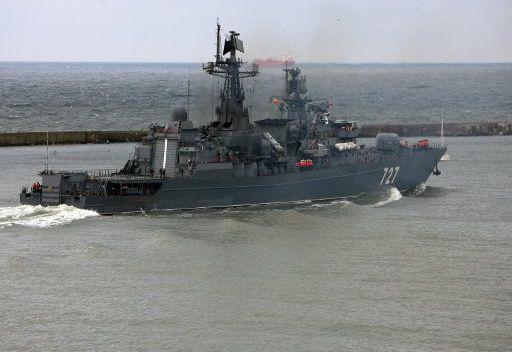 مجموعة من السفن الحربية الروسية تجري بتدريبات تكتيكية في البحر المتوسط