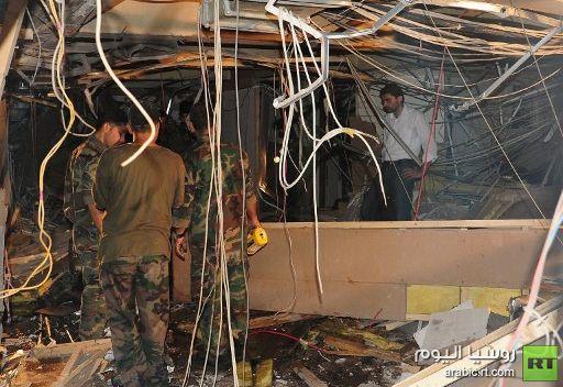 إصابات طفيفة نتيجة انفجار في مبنى الإذاعة والتلفزيون بدمشق