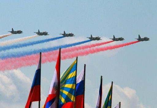 استعراض جوي بمناسة مئوية قوات الجو الروسية