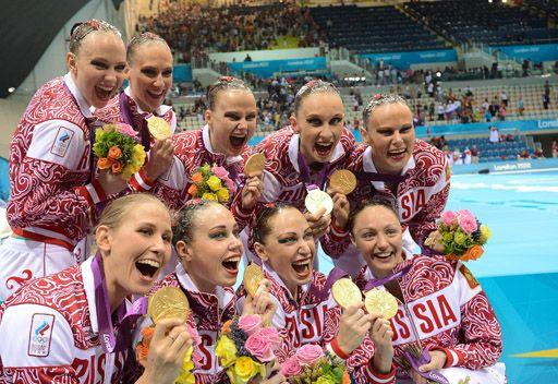 ذهبية السباحة الايقاعية للفرق روسية