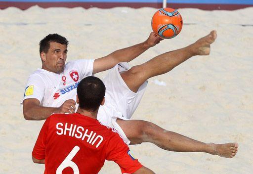 سويسرا بطلة للدوري الأوروبي لكرة القدم الشاطئية على حساب روسيا