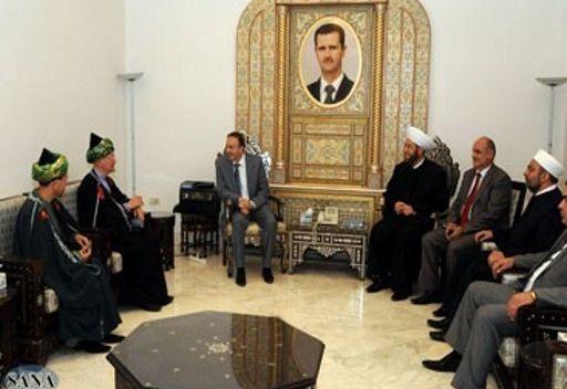 وفد من علماء الدين المسلمين الروس يزور سورية لدعمها في ازمتها
