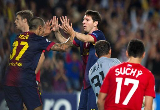برشلونة يفلت من كمين سبارتاك موسكو على ملعب