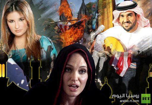 جولي تدعو المسلمين للدفاع عن دينهم وفنانون عرب ينضمون لحملة