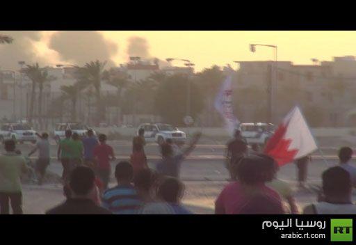 فيديو: مسيرة في البحرين تطالب باسقاط الملك حمد بن عيسى آل خليفة