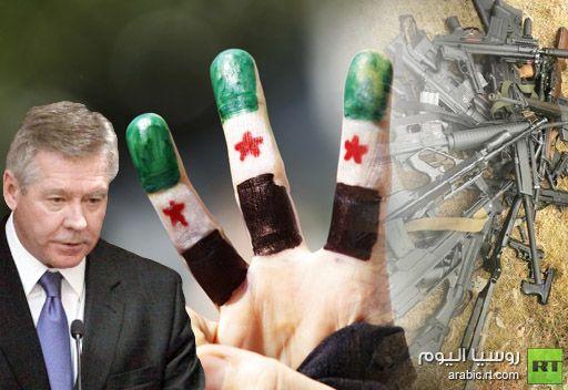 غاتيلوف: توريد الأسلحة إلى المعارضة السورية تخالف بيان جينيف