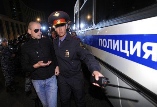 توقيف المعارض اودالتسوف بسبب محاولته لتنظيم مسيرة غير مرخصة في موسكو