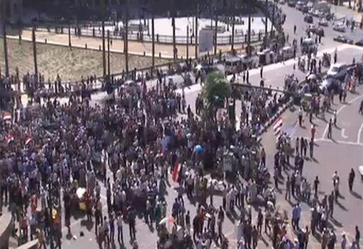 مشاهد من ميدان التحرير في القاهرة بجمعة