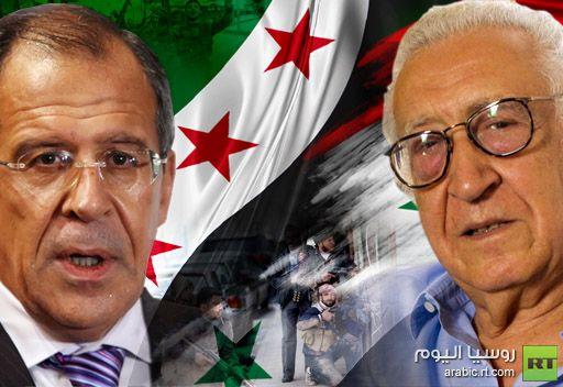 لافروف يبحث مع الابراهيمي تسوية الازمة السورية