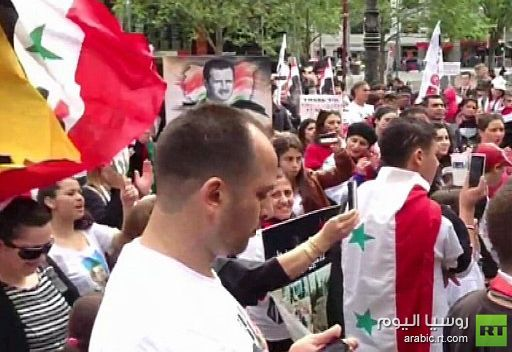 مسيرة دعم للنظام السوري في ملبورن الأسترالية