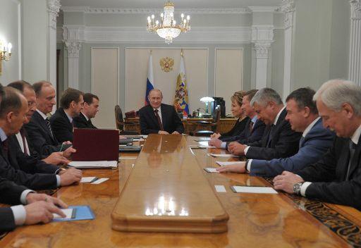 بوتين يناقش الوضع في سورية في اجتماع مجلس الامن القومي