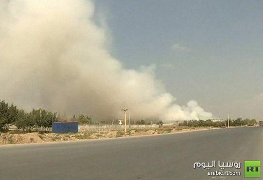 مسلحون من طالبان يدمرون مخزنا للأغذية في قاعدة باغرام العسكرية