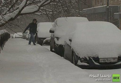 موسكو.. عواصف ثلجية وأمطار جليدية