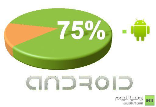 أندرويد يحتل ثلاثة أرباع سوق الهواتف الذكية في الربع الثالث