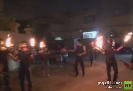 متظاهرون يهاجمون مركز شرطة في البحرين