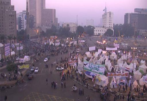 مشاهد للإشتباكات من ميدان التحرير في القاهرة