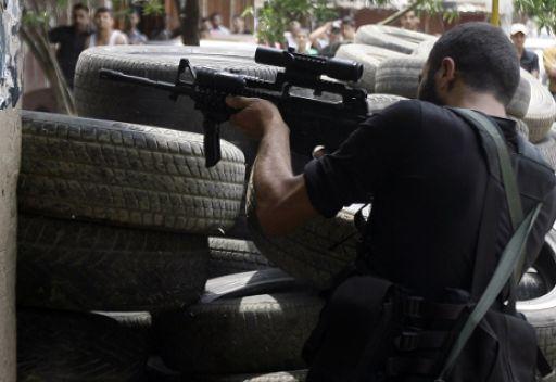 خلال الاشتباكات الماضية في طرابلس