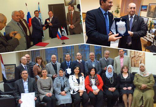 أعضاء وفد الجمعية المصرية لخريجي الجامعات الروسية يستعيدون ذكريات الشباب بموسكو