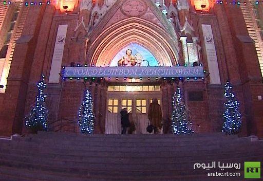 الكاثوليك يحتفلون بعيد الميلاد المجيد