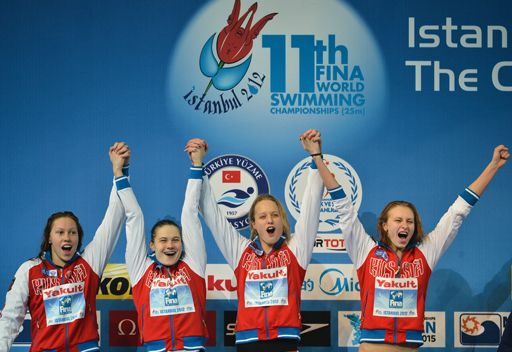 روسيا تتوج بأول ميدالية في بطولة العالم للسباحة 2012