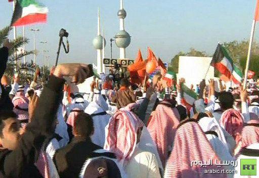 عشرات الآلاف من أنصار المعارضة يتظاهرون في الكويت احتجاجا على القانون الانتخابي المعدل
