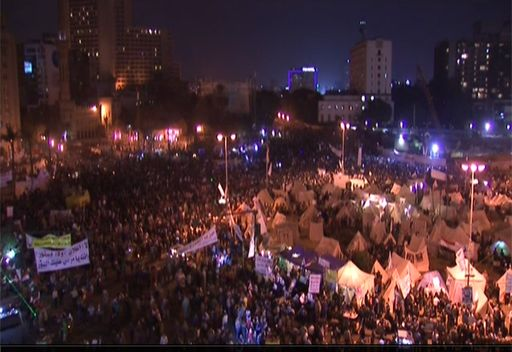 مظاهرات للمعارضة المصرية في ميدان التحرير