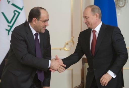 بوتين والمالكي يبحثان سير تنفيذ اتفاق التعاون العسكري التقني