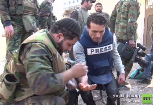 بالفيديو.. اصابة مراسل قناة