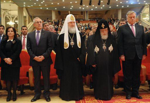 البطريرك كيريل يمنح الرئيس اللبناني ميشيل سليمان جائزة الصندوق الدولي لوحدة الشعوب الأرثوذكسية