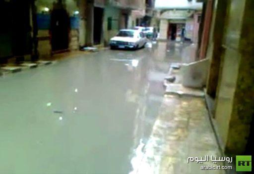 بالفيديو.. فيضانات الإسكندرية