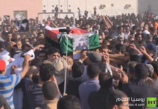 تشييع الفتى حسين الجزيري الذي قتل في البحرين
