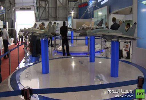 نموذج المقاتلة الروسية الهندية المستقبلية لأول مرة بمعرض الطيران في بنغالور
