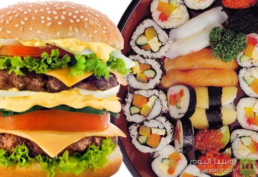 أكلة السوشي اليابانية تحتوي على سعرات حرارية أكثر من الهامبرغر.. ولا تصلح لتخفيف الوزن